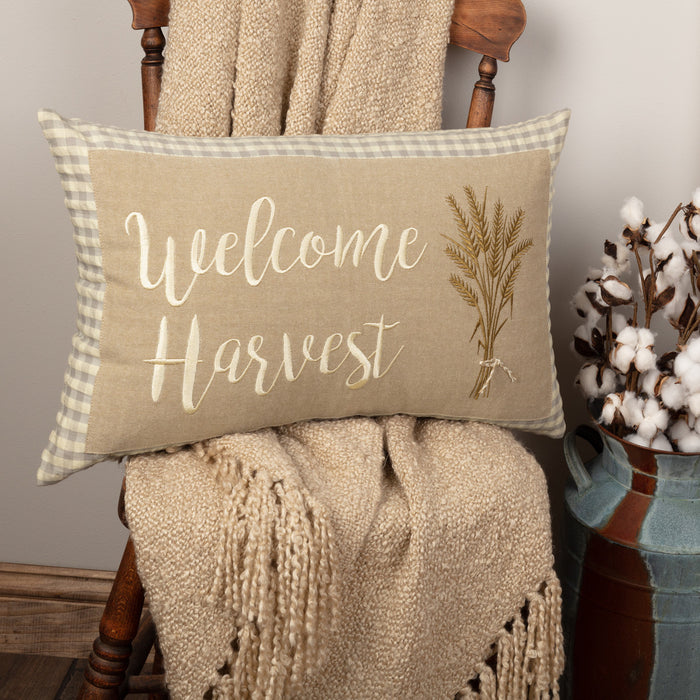 Welcome Harvest Pillow - 14 x 22