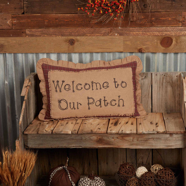 Welcome to our Patch Pillow - 14 x 22