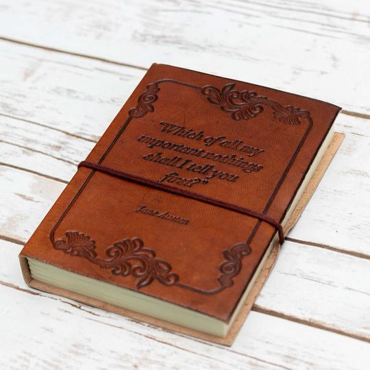 """Wonderful Nothings"" Handmade Leather Journal"