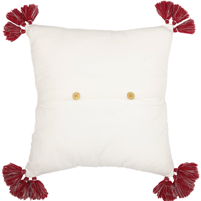 Wreath Pom Pom Pillow 18 x 18