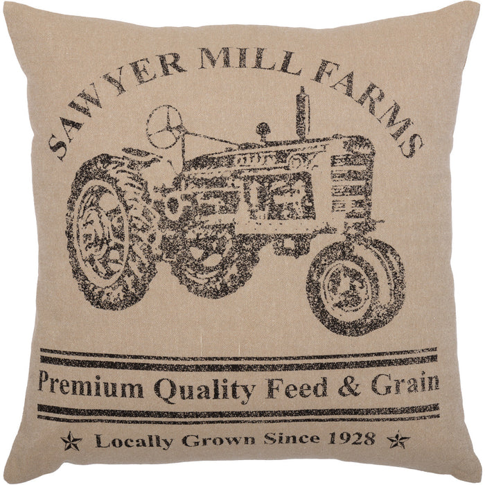 Tractor Pillow - Sawyer Mills 18 x 18