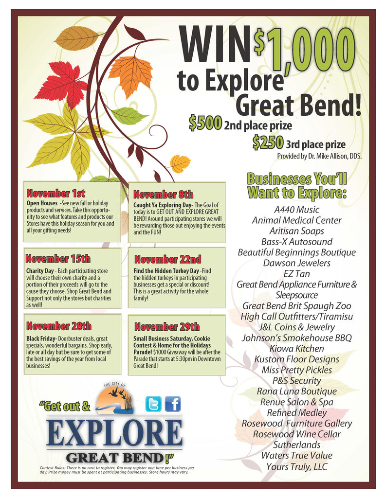Explore Great Bend Holiday Promotion