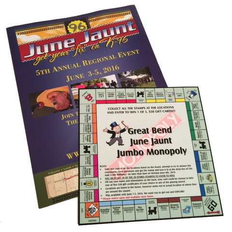 June Jaunt Jumbo Monopoly Game Board
