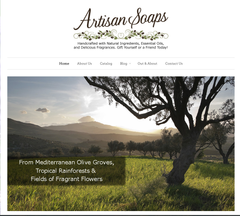 The New Artisan Soaps Website