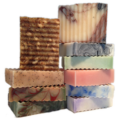 A stack of Artisan Soaps