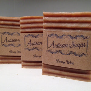 Berry Wine Soap Bar - Artisan Soaps  - 3