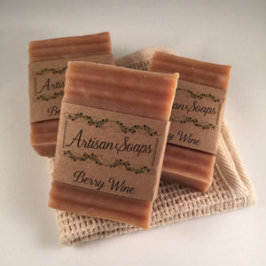 Berry Wine Soap Bar - Artisan Soaps  - 1