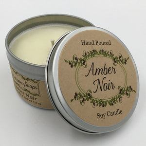 Amber Noir Soy Candle - Artisan Soaps