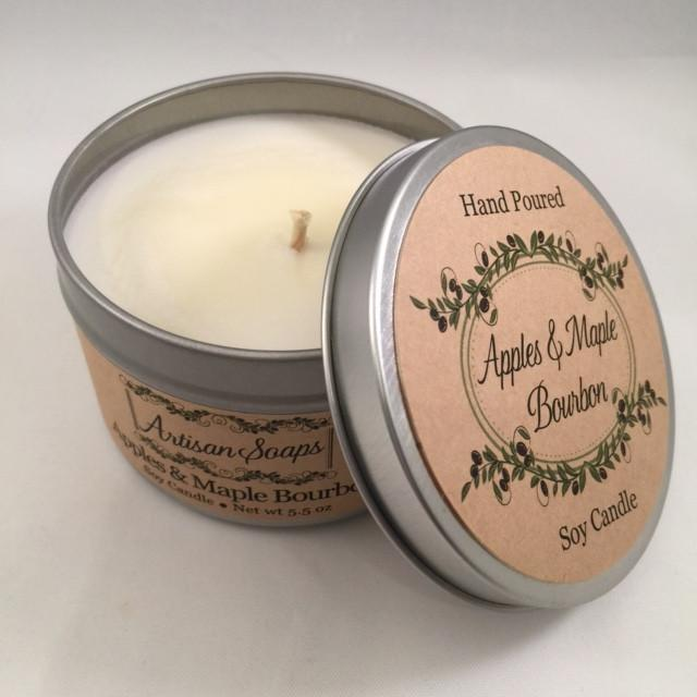 Apples and Maple Bourbon Soy Candle - Artisan Soaps