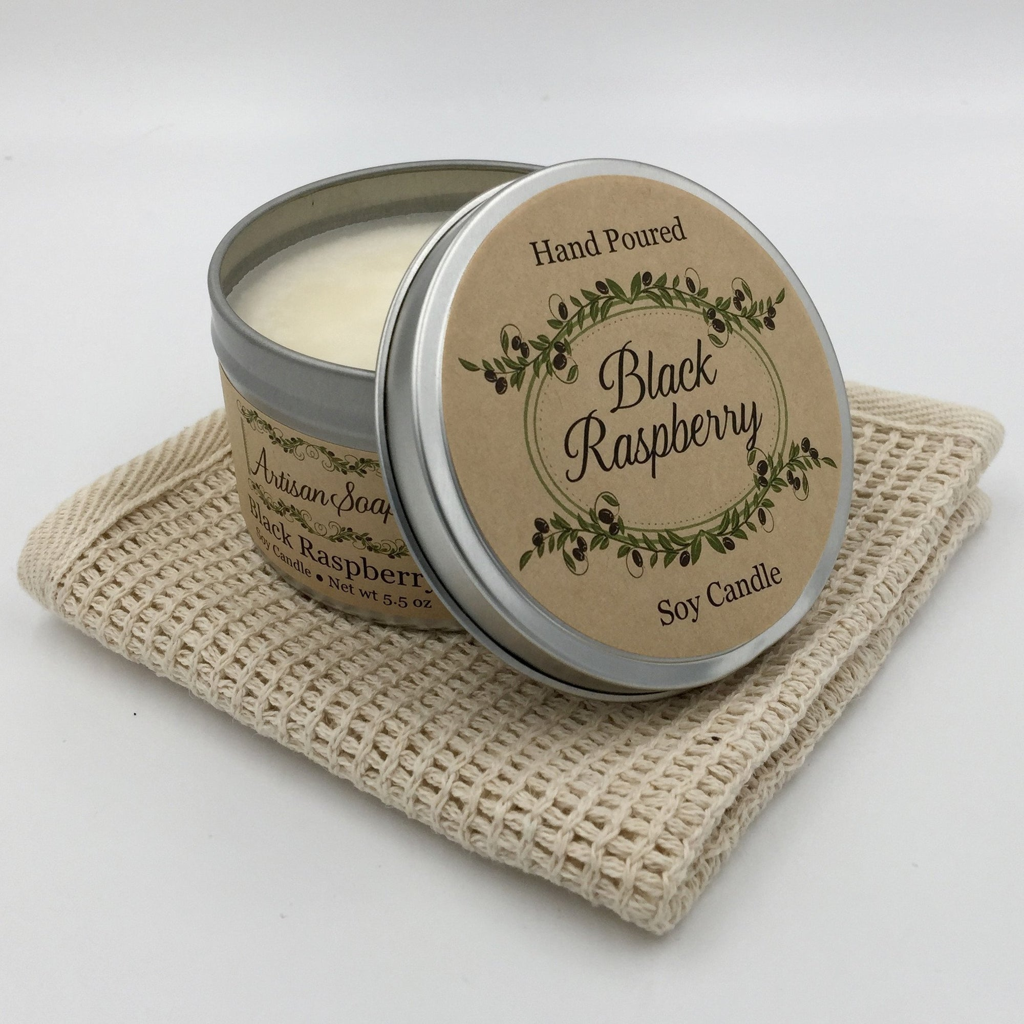 Black Cherry Soy Candle - Artisan Soaps
