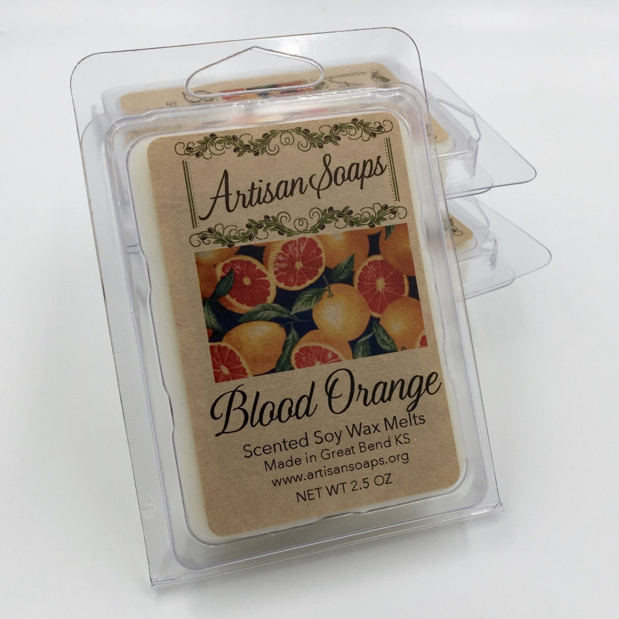 Blood Orange Soy Wax Melt - Artisan Soaps