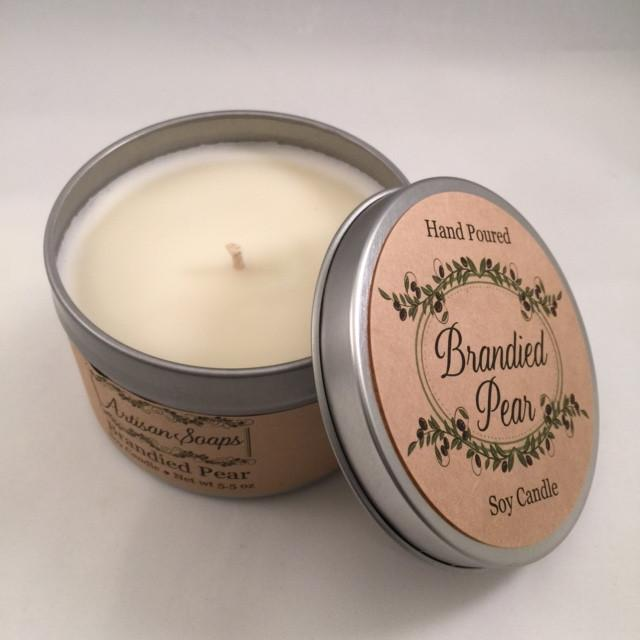 Brandied Pear Candle - Artisan Soaps
