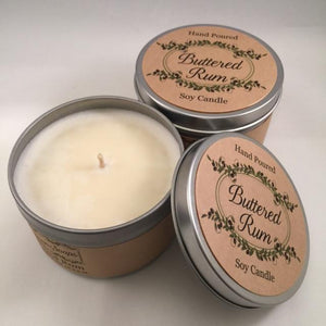 Buttered Rum Soy Candle - Artisan Soaps