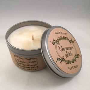 Cinnamon Stick Soy Candle - Artisan Soaps