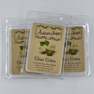 Clean Cotton Soy Wax Melt - Artisan Soaps