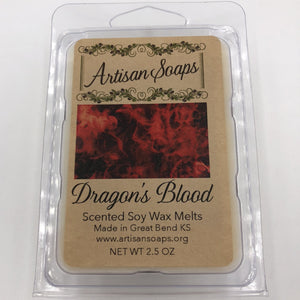 Dragon's Blood Soy Wax Melt - Artisan Soaps