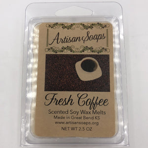 Fresh Coffee Soy Wax Melts - Artisan Soaps