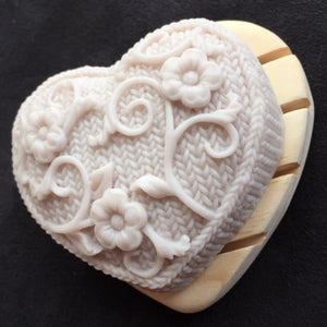 Heart-Shaped Pine Wood Soap Dishes - Artisan Soaps
