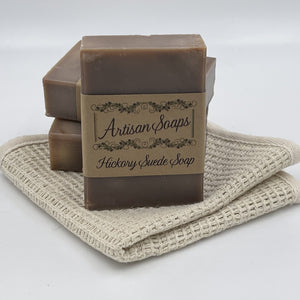 Hickory and Suede Soap Bar - Artisan Soaps