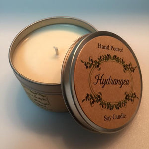 Hydrangea Soy Candle - Artisan Soaps