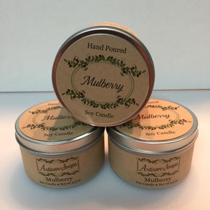 Mulberry Soy Candle - Artisan Soaps