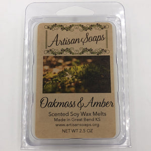 Oakmoss and Amber Soy Wax Melt - Artisan Soaps
