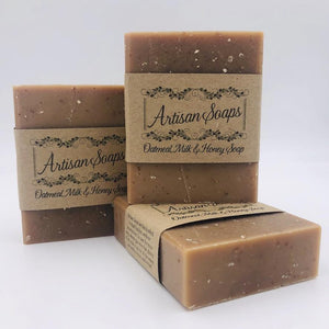 Oatmeal, Milk and Honey Soap Bar - Artisan Soaps