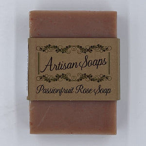 Passionfruit Rose Soap Bar - Artisan Soaps