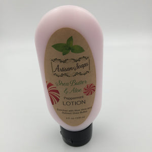 Peppermint Shea Butter & Aloe Lotion - Artisan Soaps
