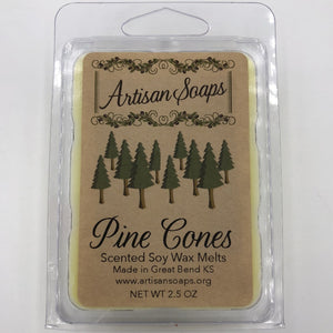 Pine Cones Soy Wax Melt - Artisan Soaps