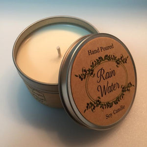 Rain Water Soy Candle - Artisan Soaps