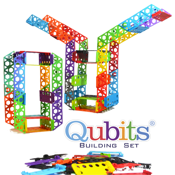 84 pcs Qubits STEM Building Set - Qubits Toy, Qubits - Construction Toy, Qubits Toy - Qubits Toy, Qubits Toy - Qubits Construction Toy