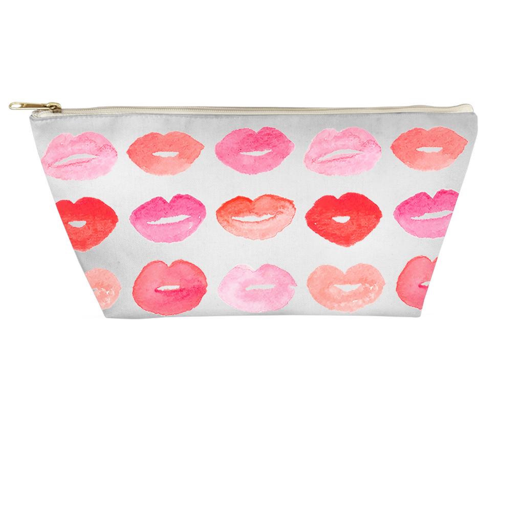 Watercolor Kisses Cosmetic Bag (T-Bottom) - Bama To Brooklyn