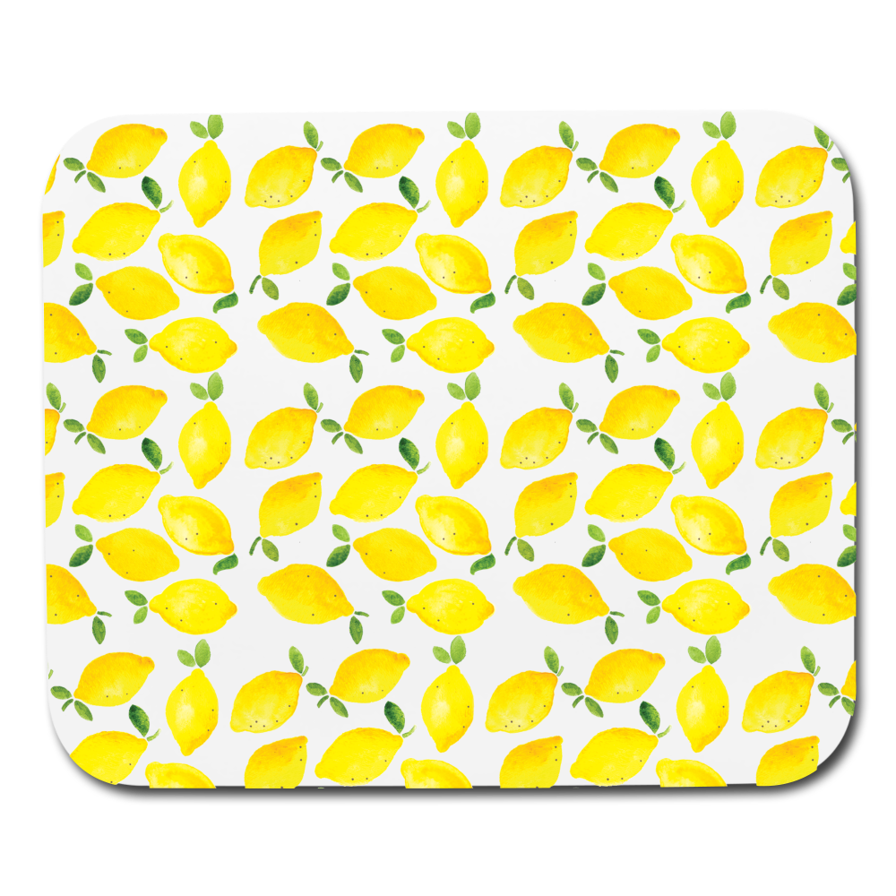 Lemon Mousepad (UPDATED) - white