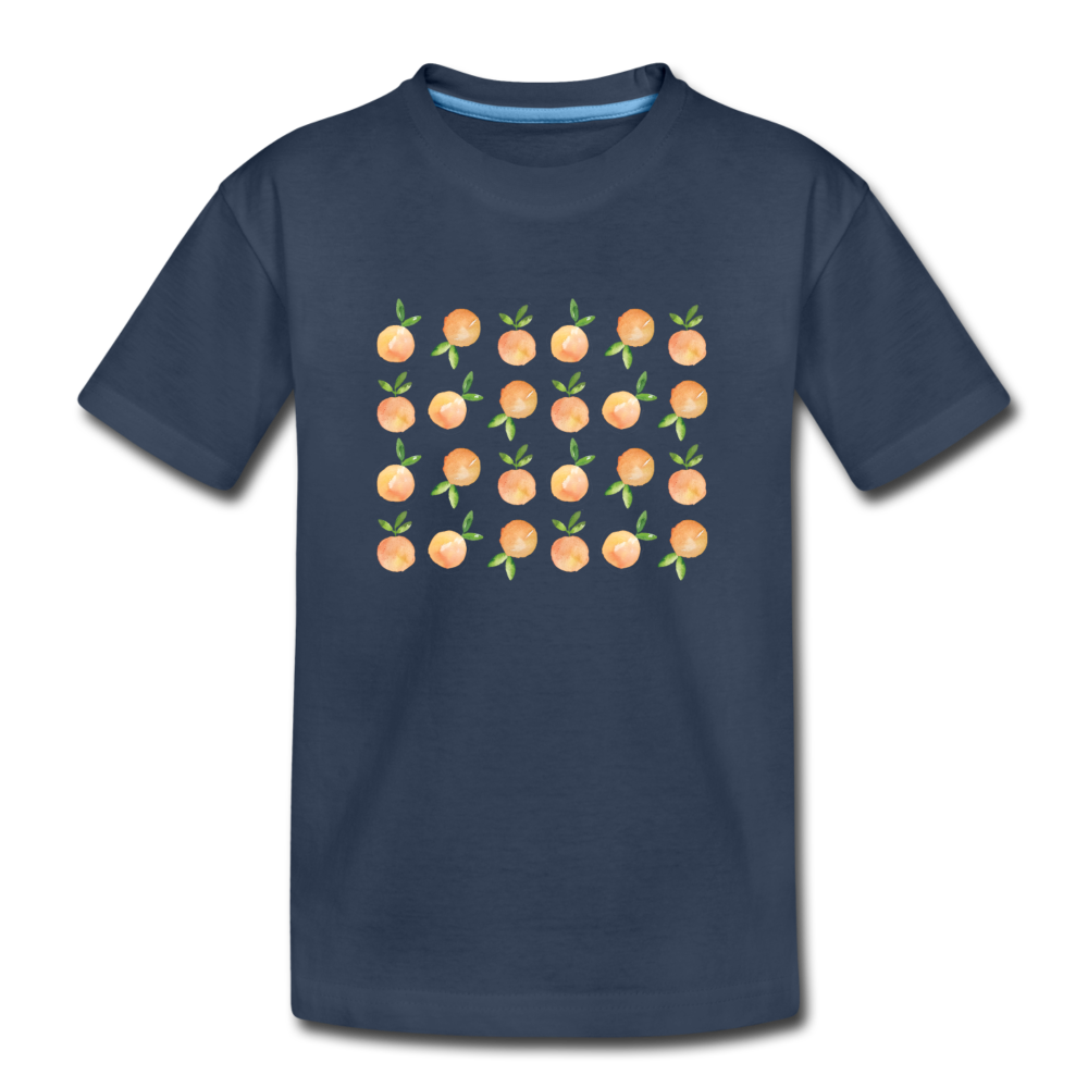 Youth Oranges Organic T-Shirt - navy