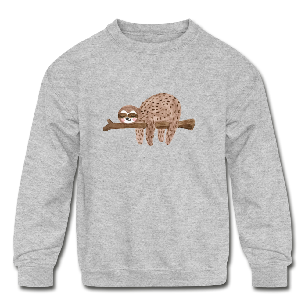 Kids' Sloth Crewneck Sweatshirt - heather gray