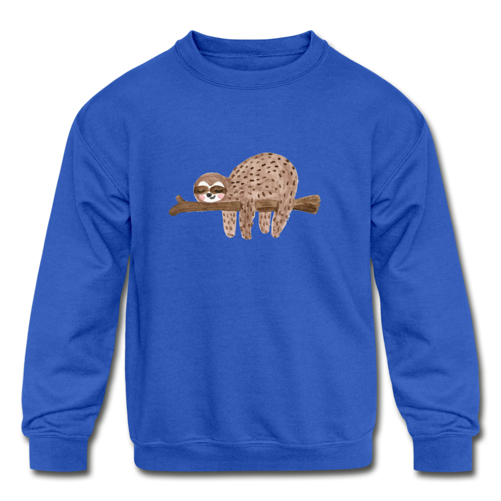 Kids' Sloth Crewneck Sweatshirt - royal blue
