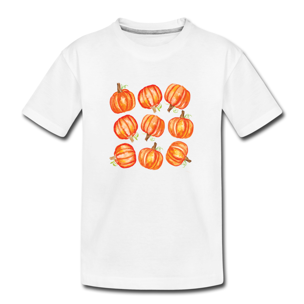 Toddler Pumpkin Organic T-Shirt - white