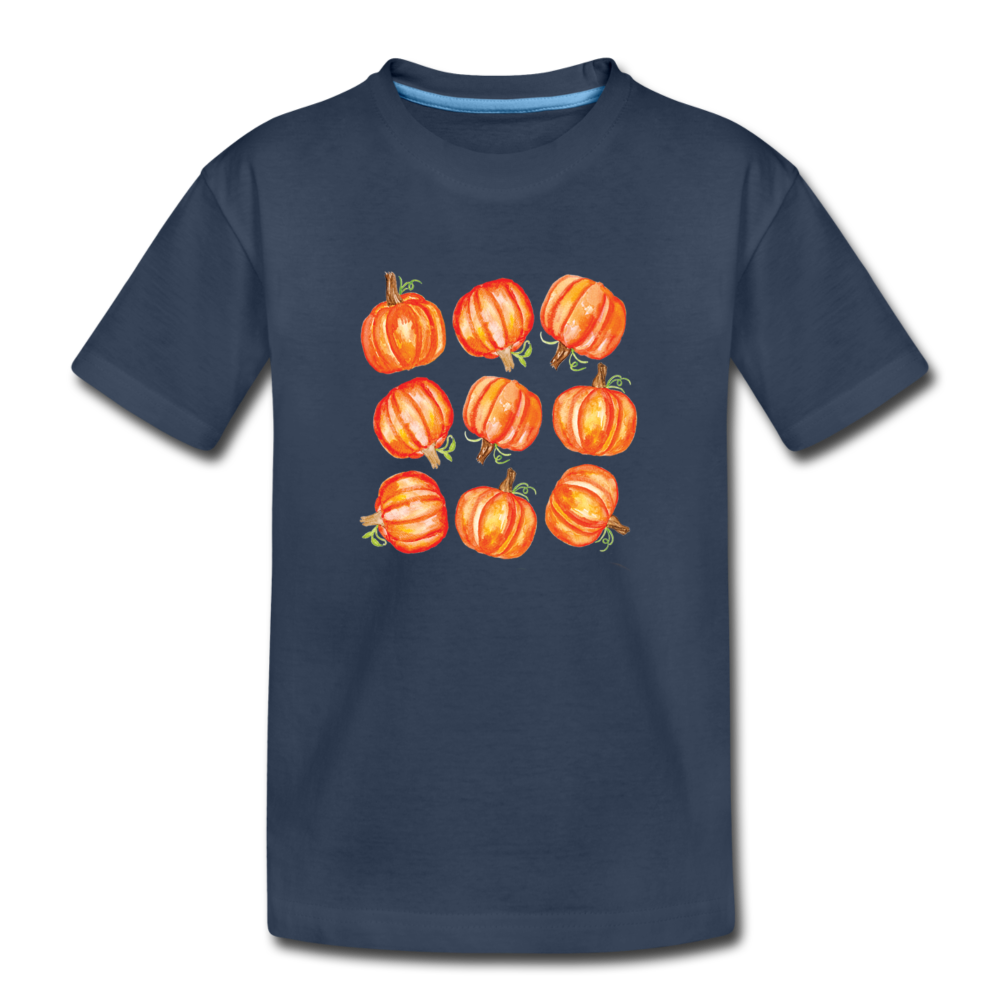 Toddler Pumpkin Organic T-Shirt - navy