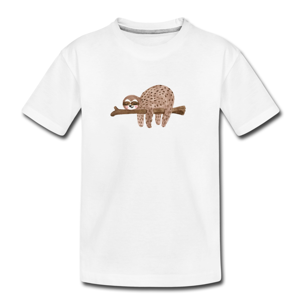 Toddler Sloth Organic T-Shirt - white