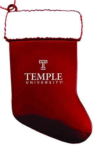 LXG, Inc. Temple University - Chirstmas Holiday Stocking Ornament - Red