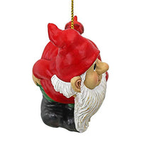 Christmas Ornament - Garden Gnomes Figurine - Loonie Moonie Gnome - Naughty Gnomes - Mooning Gnomes Statues