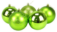 Christmas Concepts Pack of 5 - Extra Large 100mm Christmas Tree Baubles - Shiny, Matte & Glitter Decorated Baubles (White)