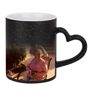 Magic Custom Photo Color Changing Coffee Mug Cup, Personalized DIY Print Ceramic Hot Heat Sensitive Cup Birthday Christmas Gift -Add YOUR PHOTO&TEXT