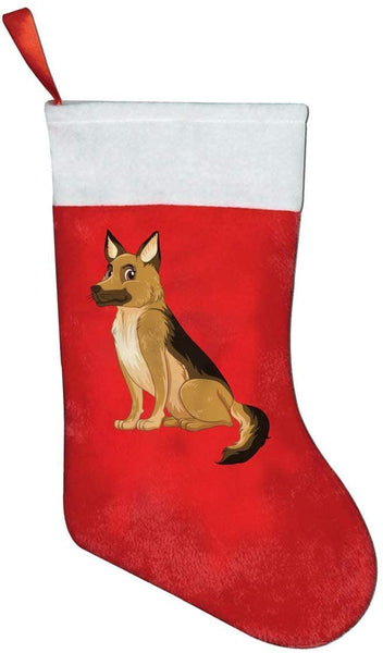 LiBei German Shepard Fashion Unique Christmas Stockings Personalized Gift Socks Candy Socks,Xmas Party Decor