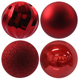 "GameXcel Christmas Balls Ornaments for Xmas Tree - Shatterproof Christmas Tree Decorations Large Hanging Ball Fluorescent Pink 4.0"" x 4 Pack"