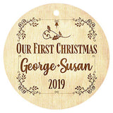Just Customized Personalized Christmas Ornaments for Family, Decorations, Festivals, Newlyweds, Christmas Wood Engraved Custom Wedding Gift