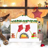 SMYER Christmas Table Topper Gifts,Personalize Fireplace Tabletop Family of 4 Ornaments,Hand Personalized Family Christmas Ornament,Free Pen Included (TableTopper of 4)