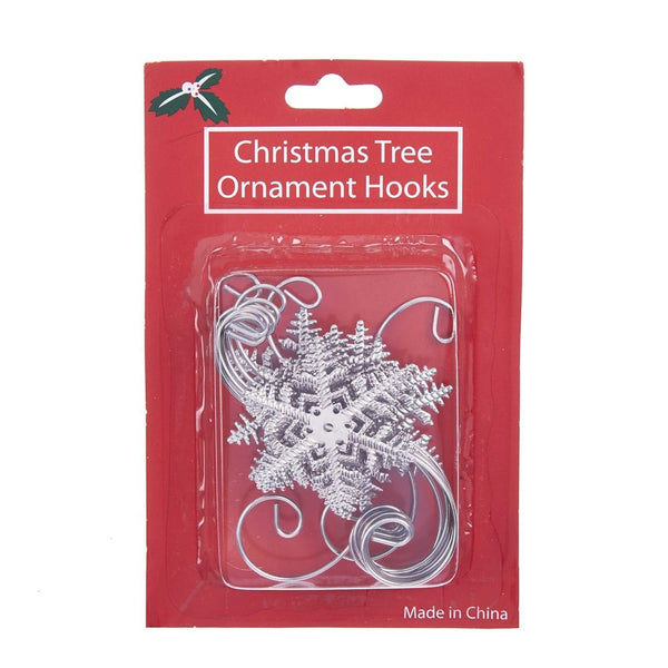 Kurt Adler Metal Snowflake Ornament Hooks 12 Piece Set Home Accessories