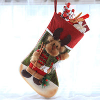 JOYPAWS Set of 3 Pieces Personalized Christmas Stockings Christmas Decorations Gifts for Family,Restaurant,Bar&Store